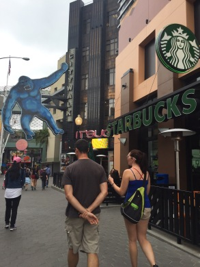 City Walk and Starbucks