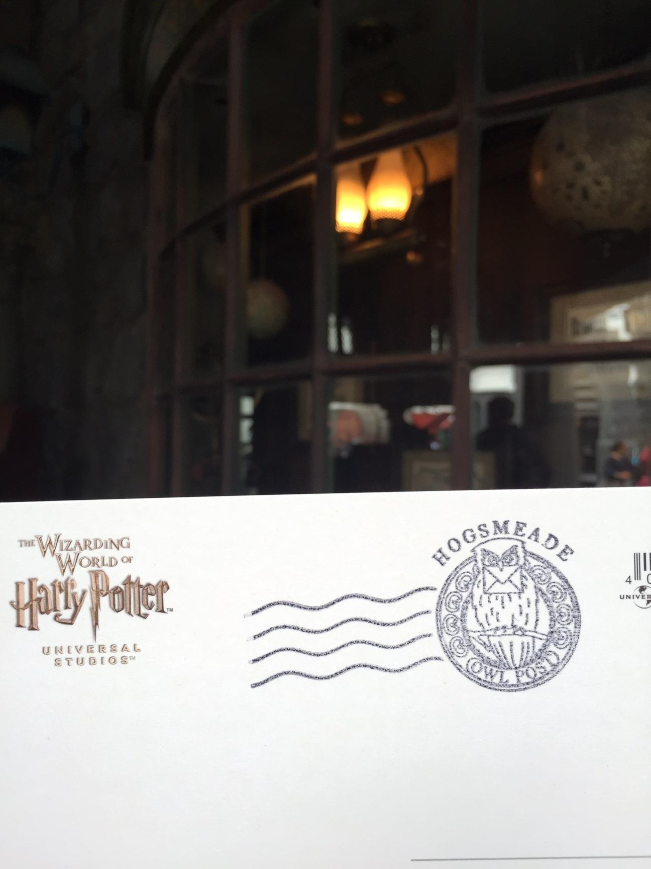 Hand canceled stamp