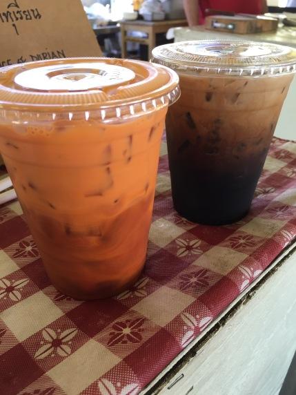 Thai tea and coffee