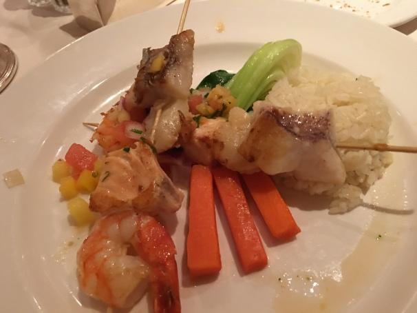 Seafood skewer