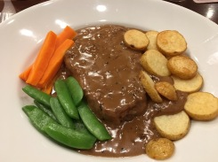 Pork filet with pepper sauce