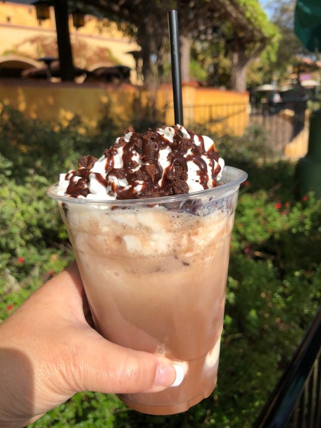 Iced hot chocolate