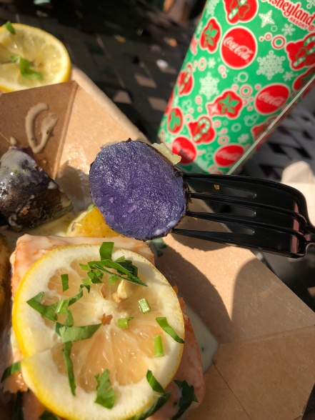 Inside the purple potato